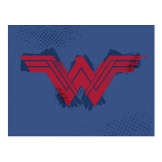 Justice League | Brushed Wonder Woman Symbol Postcard