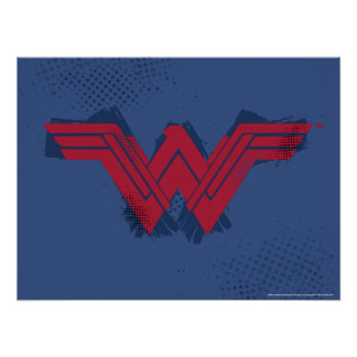 Justice League | Brushed Wonder Woman Symbol Poster