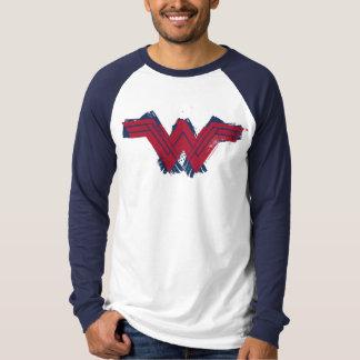Justice League | Brushed Wonder Woman Symbol T-Shirt