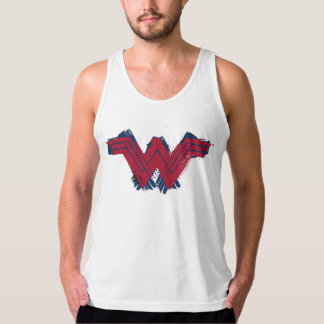 Justice League | Brushed Wonder Woman Symbol Tank Top