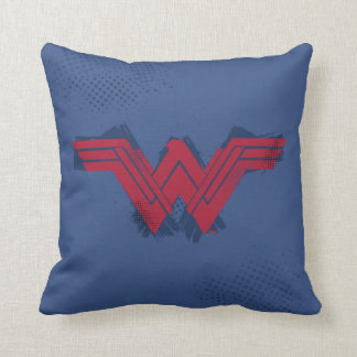 Justice League | Brushed Wonder Woman Symbol Throw Pillow