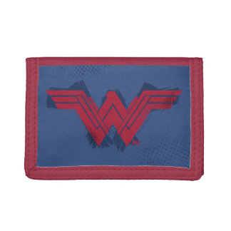 Justice League | Brushed Wonder Woman Symbol Trifold Wallet