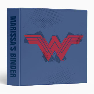 Justice League | Brushed Wonder Woman Symbol Vinyl Binders