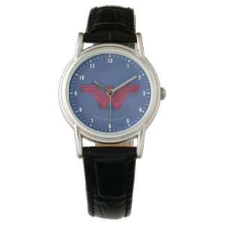 Justice League   Brushed Wonder Woman Symbol Watch
