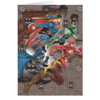 Justice League Collage Card