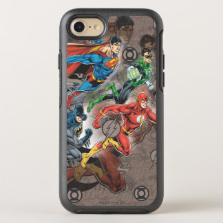 Justice League Collage OtterBox Symmetry iPhone 7 Case