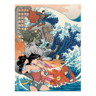 Justice League Comic Cover #15 Variant Postcard