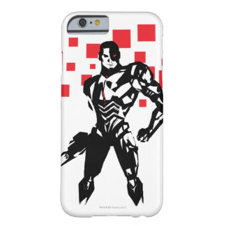 Justice League | Cyborg Digital Noir Pop Art Barely There iPhone 6 Case