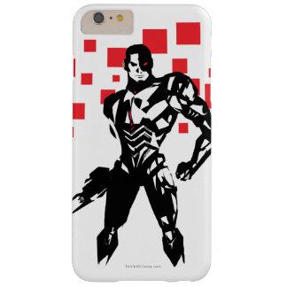 Justice League | Cyborg Digital Noir Pop Art Barely There iPhone 6 Plus Case
