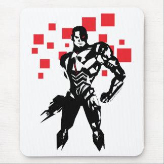 Justice League | Cyborg Digital Noir Pop Art Mouse Pad