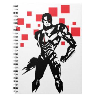 Justice League | Cyborg Digital Noir Pop Art Notebook