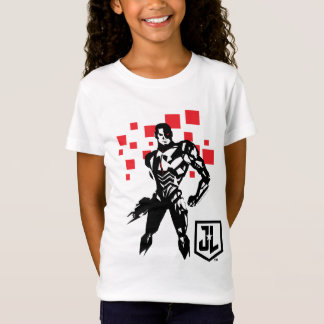 Justice League | Cyborg Digital Noir Pop Art T-Shirt