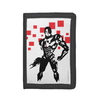 Justice League | Cyborg Digital Noir Pop Art Trifold Wallet