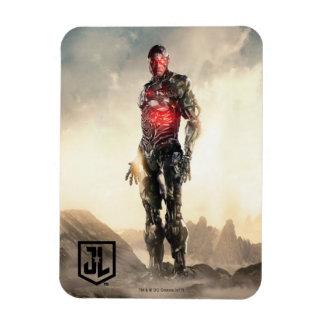 Justice League | Cyborg On Battlefield Magnet