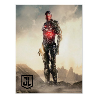 Justice League | Cyborg On Battlefield Poster