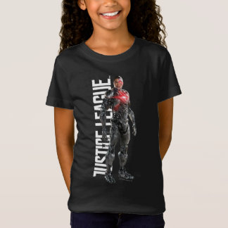 Justice League | Cyborg On Battlefield T-Shirt