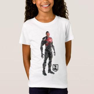 Justice League   Cyborg On Battlefield T-Shirt