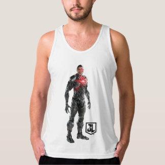 Justice League | Cyborg On Battlefield Tank Top