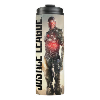 Justice League | Cyborg On Battlefield Thermal Tumbler
