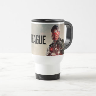 Justice League   Cyborg On Battlefield Travel Mug