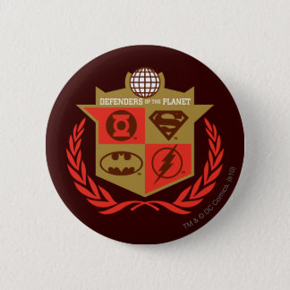 Justice League Defenders of the Planet 2 Inch Round Button