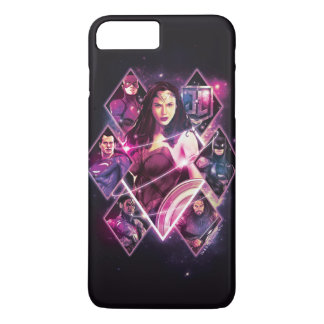 Justice League | Diamond Galactic Group Panels iPhone 8 Plus/7 Plus Case