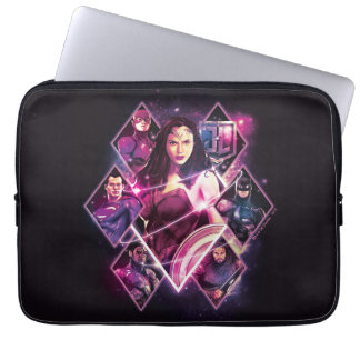 Justice League | Diamond Galactic Group Panels Laptop Sleeve
