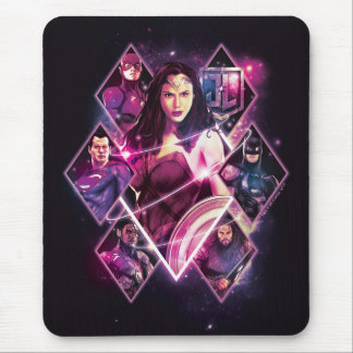 Justice League | Diamond Galactic Group Panels Mouse Pad