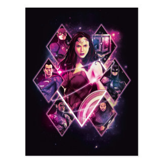 Justice League   Diamond Galactic Group Panels Postcard
