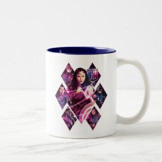 Justice League | Diamond Galactic Group Panels Two-Tone Coffee Mug