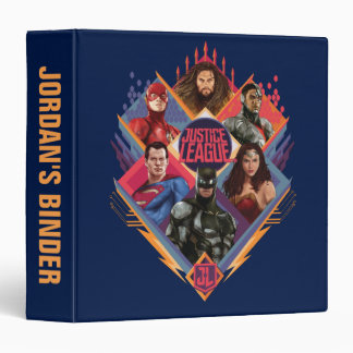 Justice League | Diamond Hatch Group Badge 3 Ring Binder