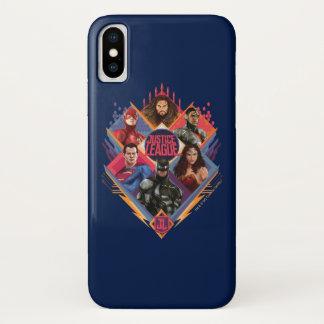 Justice League | Diamond Hatch Group Badge iPhone X Case