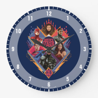 Justice League | Diamond Hatch Group Badge Large Clock