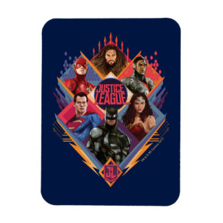 Justice League | Diamond Hatch Group Badge Magnet