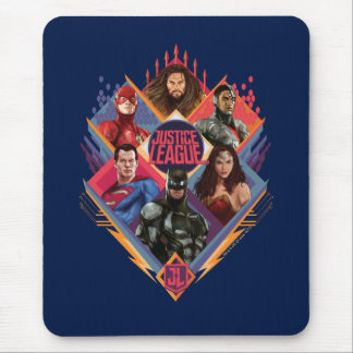 Justice League | Diamond Hatch Group Badge Mouse Pad