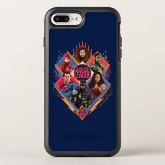 Justice League | Diamond Hatch Group Badge OtterBox Symmetry iPhone 8 Plus/7 Plus Case
