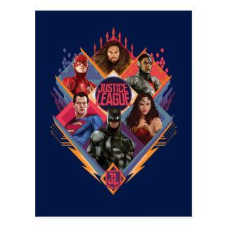 Justice League | Diamond Hatch Group Badge Postcard