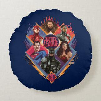 Justice League | Diamond Hatch Group Badge Round Pillow
