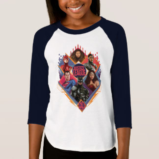 Justice League | Diamond Hatch Group Badge T-Shirt