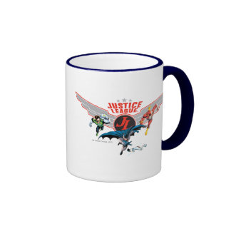 Justice League Flying Air Badge and Heroes Mugs