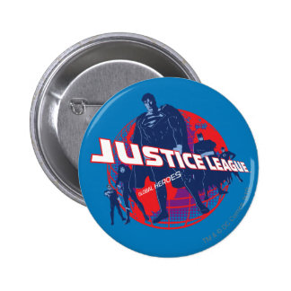 Justice League Global Heroes and Globe 2 Inch Round Button