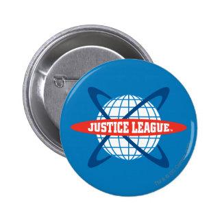 Justice League Globe Logo 2 Inch Round Button