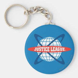 Justice League Globe Logo Basic Round Button Keychain