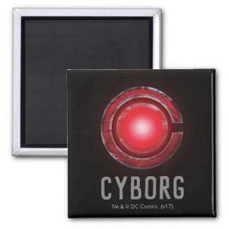 Justice League | Glowing Cyborg Symbol Magnet