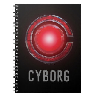 Justice League | Glowing Cyborg Symbol Notebook