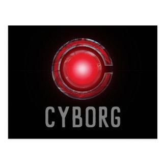Justice League   Glowing Cyborg Symbol Postcard