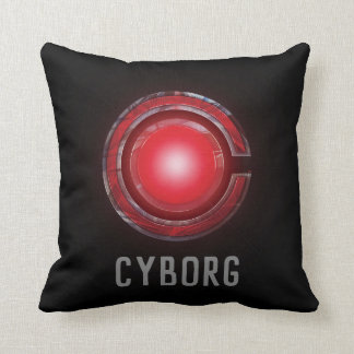 Justice League | Glowing Cyborg Symbol Throw Pillow