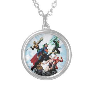 Justice League - Group 1 Round Pendant Necklace