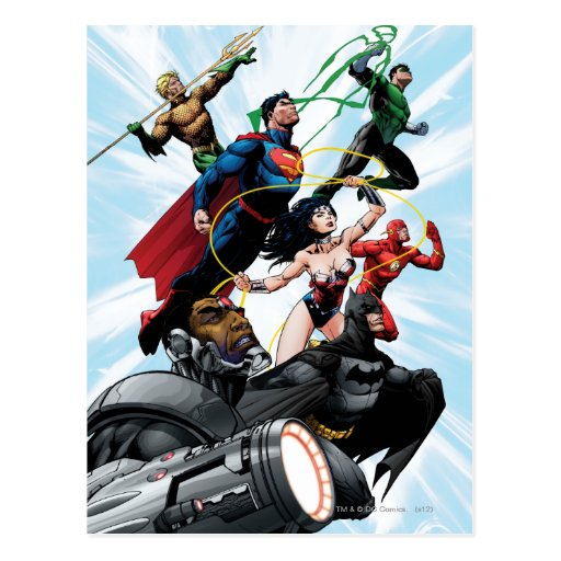 Justice League - Group 1 Post Cards