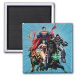 Justice League - Group 2 Square Magnet